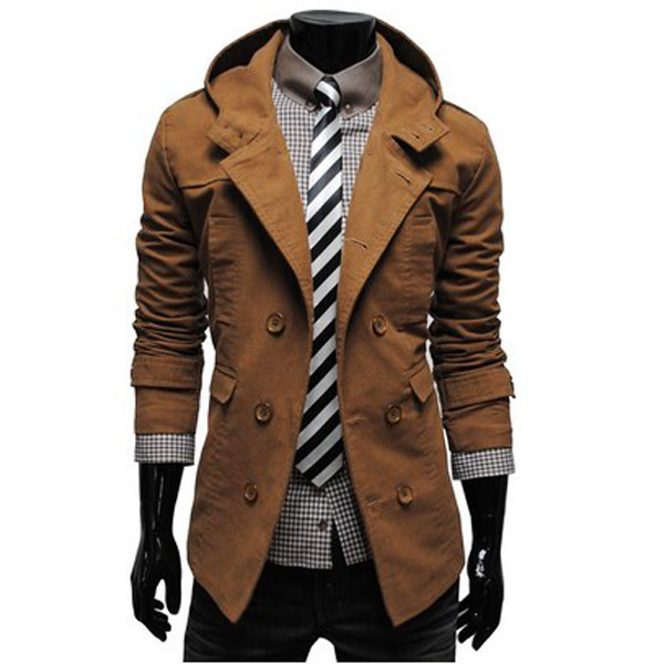Fashion Mens Double-breasted Coat for Men's Cool Dress - Men ...
