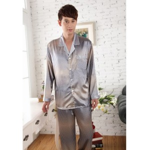 Mens silk sleepwear