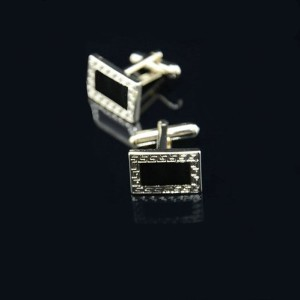 Mens Retro Geometric Cufflinks