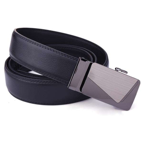 mens black leather belts