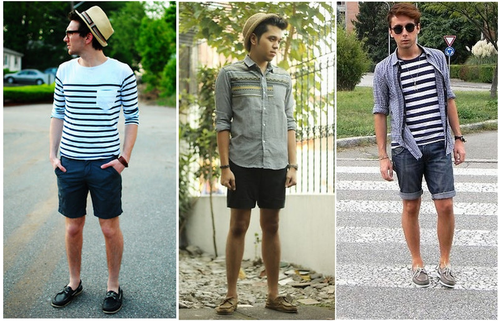 Fashion Matching of Men's Canvas Shoes & Fashion Shorts - Men ...