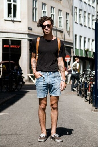 black shorts mens fashion