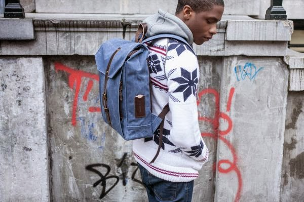 men leisure canvas backpacks