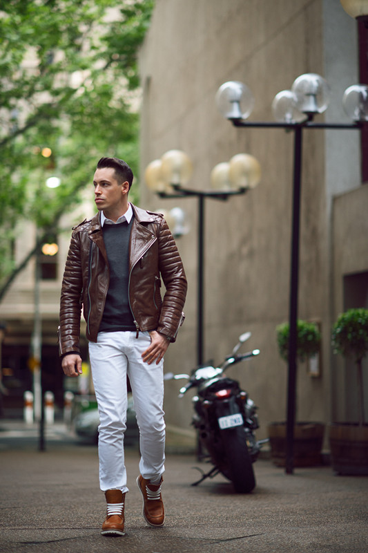 Mens PU Leather Jacket