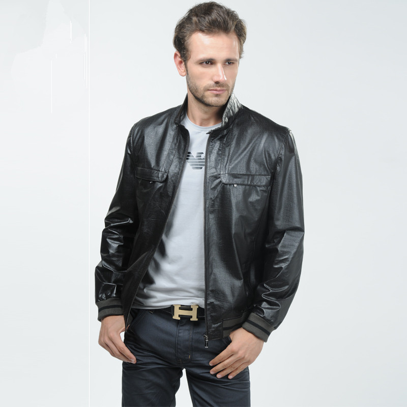mens slim leather jacket