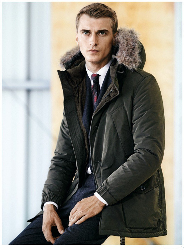 Mens Winter Parka Overcoat