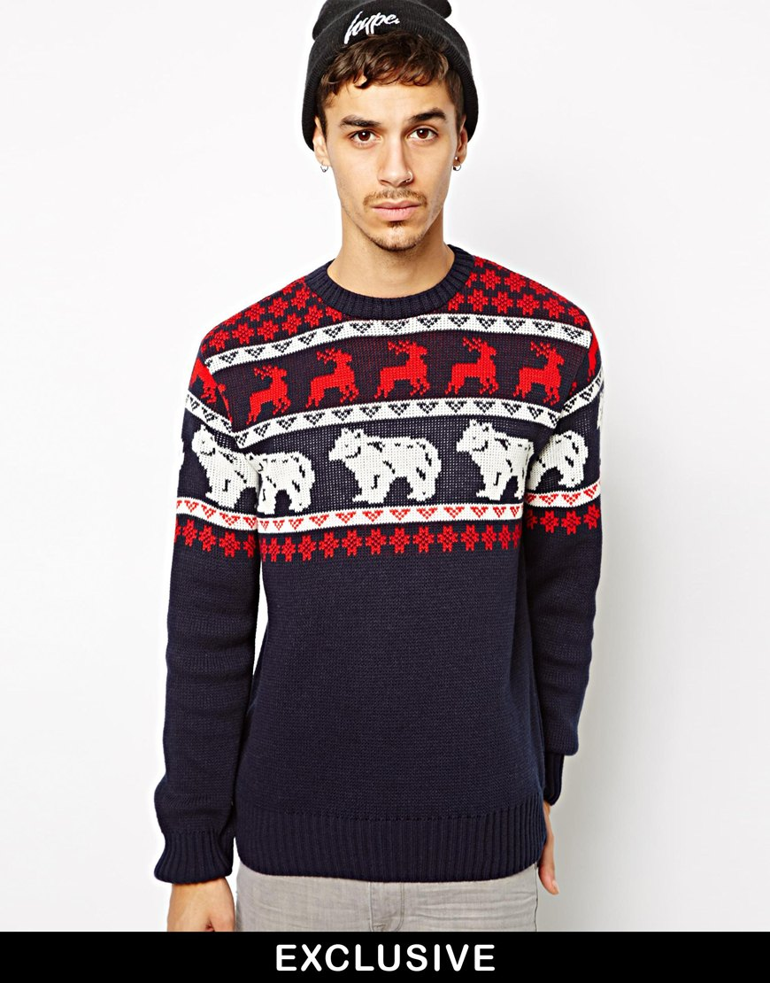Festival Wearing in New Year, Men's Fawn Printed Pullover ...