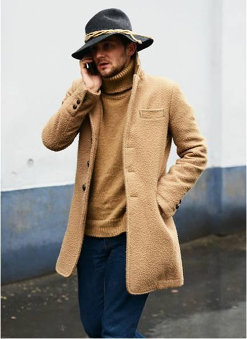 Men Wool Blend Coat