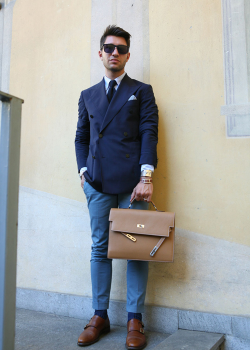 fashion blue menswear