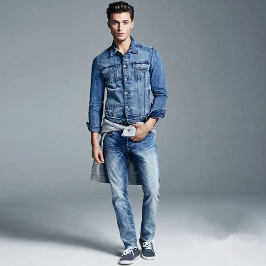 Denim + Denim Show Chic Casual Men Appearance - Men Fashion Hub