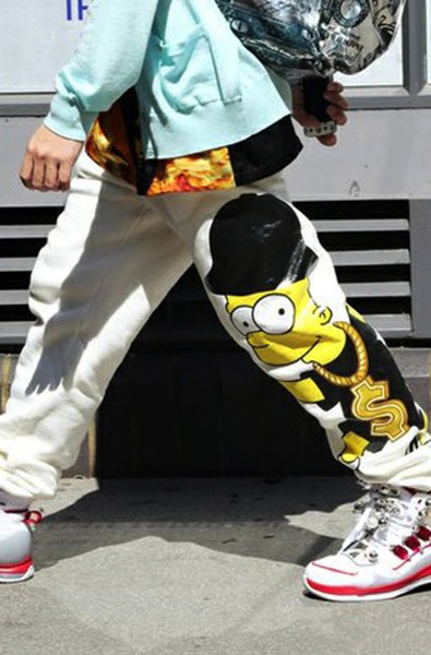 men cartoon print fashion