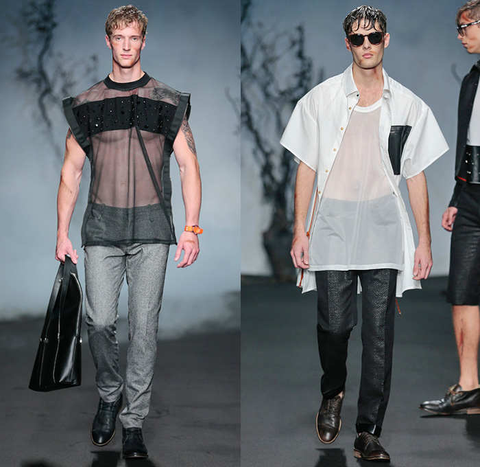 men sheer tops