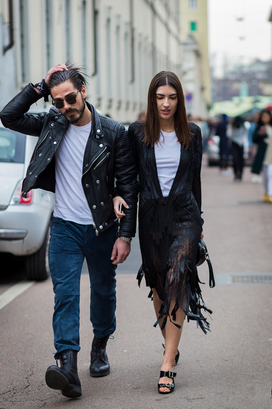 fashion couple street snaps