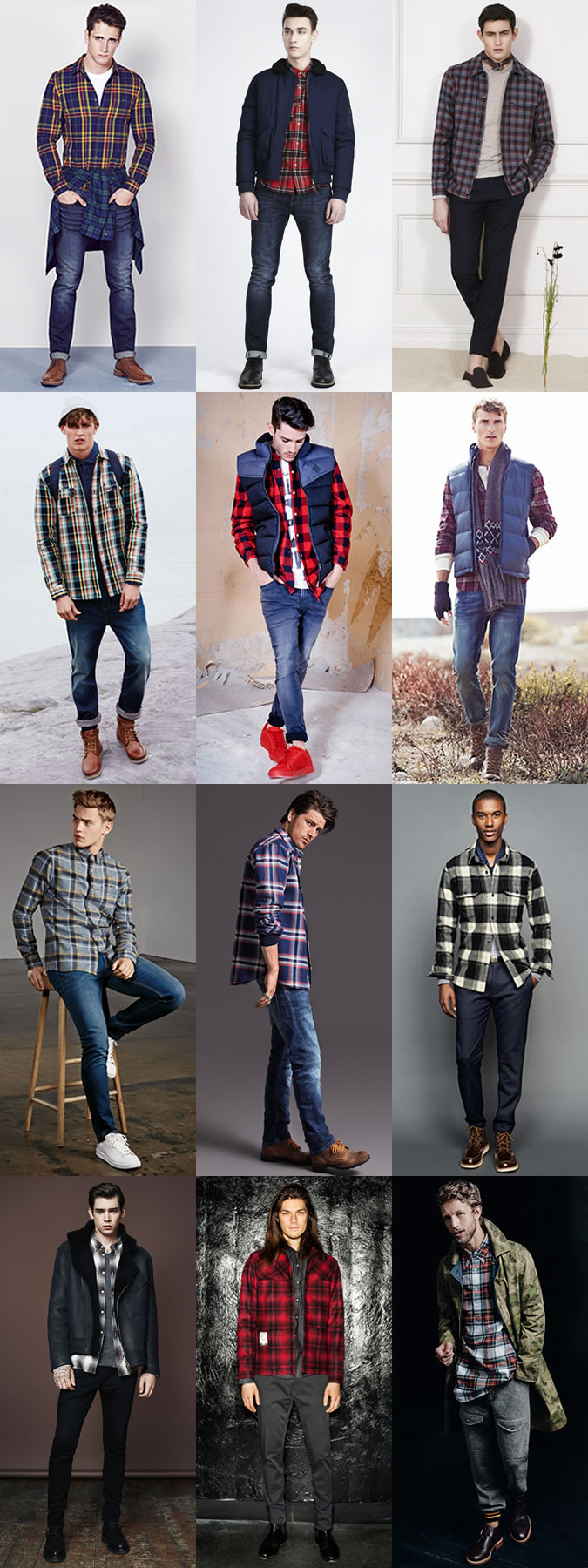 Casual Grid Shirts
