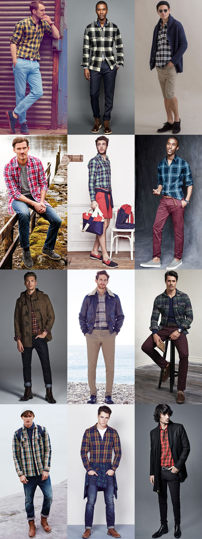 men plaid shirts