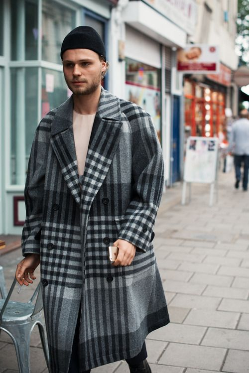 mens grid coats
