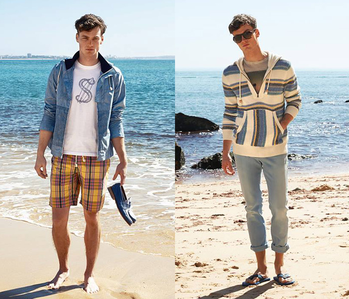 Or how to make a perfect beach clothing combination that can really make you look stunning. All the beach outfits / beach accessories for men such as Swimwear,sunglasses, footwear, beach tops, beach bags, head wear have been creatively matched to make an awesome combination.
