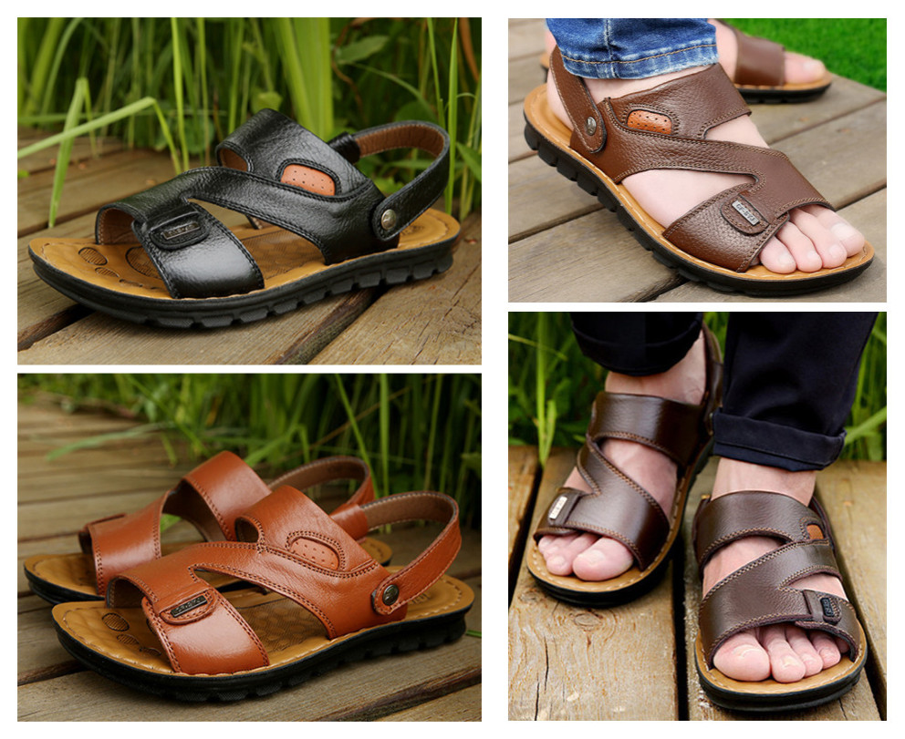 Men Leather Summer Slipper 1