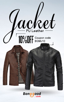 Men PU Leather Jacket