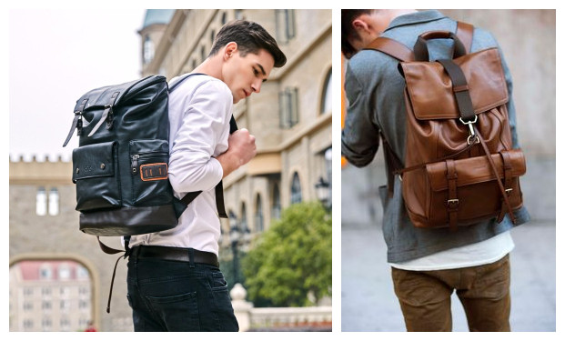 8c59b7917fa4 cheap backpacks. Recommendations  Big capacity multifunctional leather bag  for men suitable for travel- ...